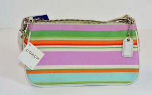 NWT $128 Authentic Coach M0669-F10802 multi-color striped small purse