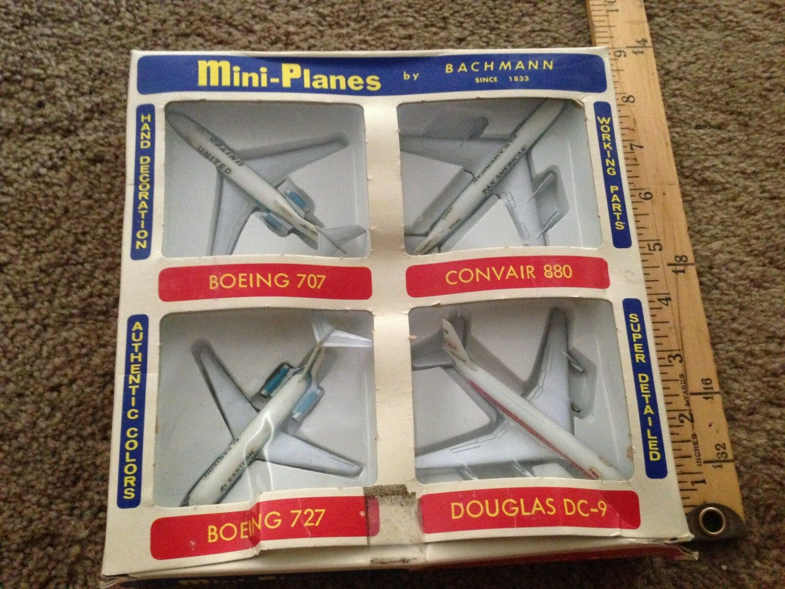 Bachmann BOXED  commercial Aircraft Gift Set Airplanes