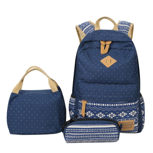 School Bags Backpack Set Teen Girls Bookbag With Lunch Box Bag And Pencil Case