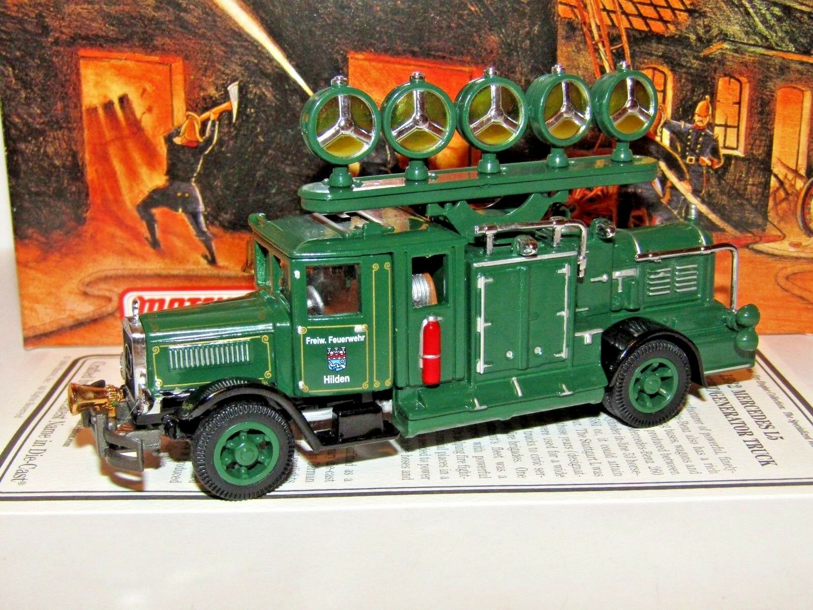 MATCHscatola modellos OF YESTERYEAR 1932 MERCEDES RiflettoreGeneratore CAMION YYM37632