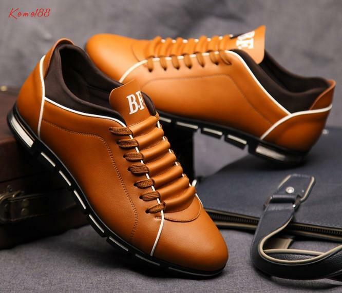 Fashion new Mens round toe lace up casual running sneaker dress shoes plus size