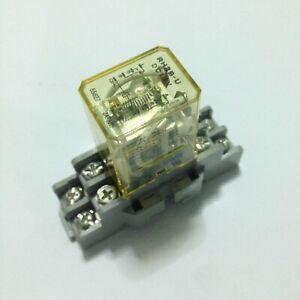 Idec-Japan-RH2B-U-12VDC-Relay-with-SH2B-05-Relay-Socket-Lot-of-12