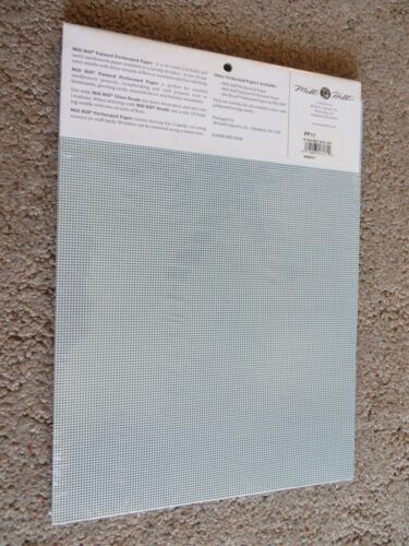 10/% Off Mill Hill 14 count Painted Perforated Paper Sea Mist Blue PP11