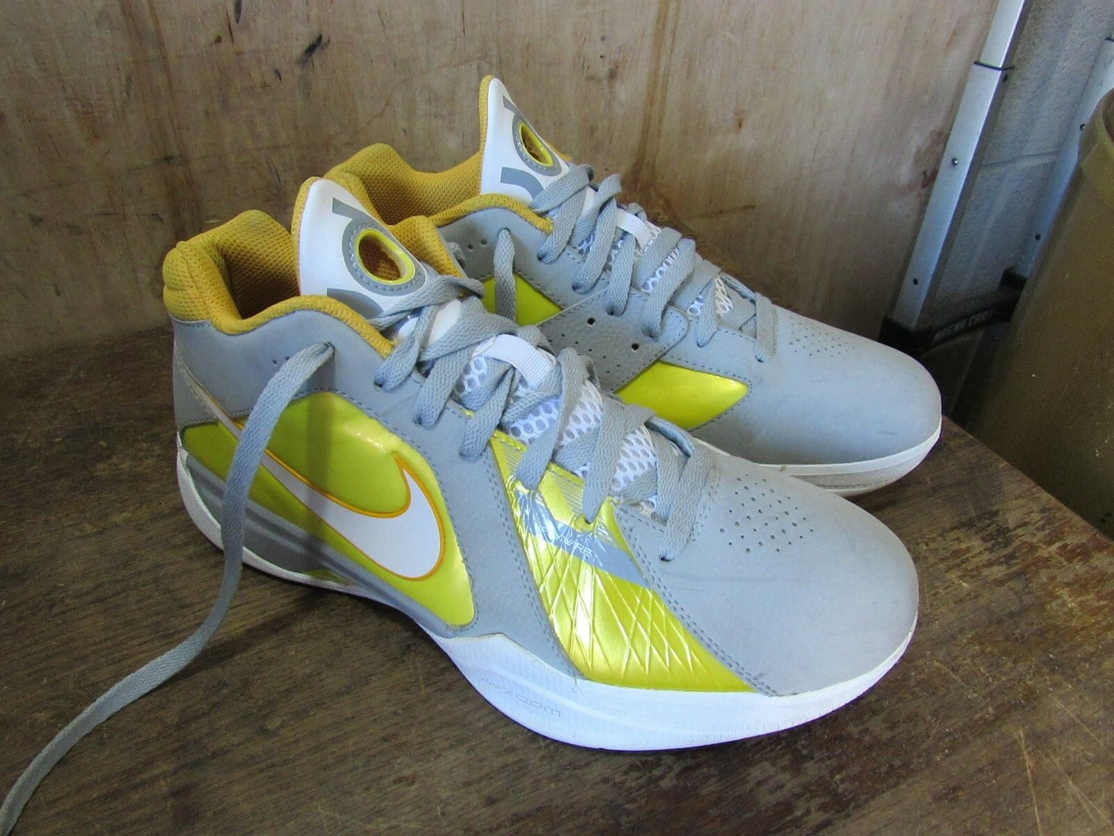 NIKE Zoom KD III Wolf Grey Del Sol Flywire Size 003 9 Basketball Shoes 417279 003 Size cc4037