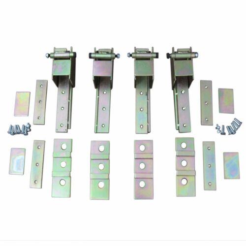 Universal 2 Door Suicide Hidden Hinges Kit Door Remote Kit 85 lbs Shaved