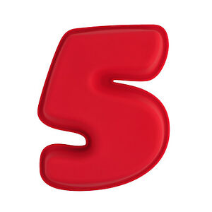 Image Is Loading NR 5 X Numbers Shaped Silicone Birthday Cake