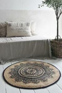 Nostalgie-Vintage-Teppich-Laeufer-100-Jute-90-cm-Jeanne-d-Arc-living-Natur