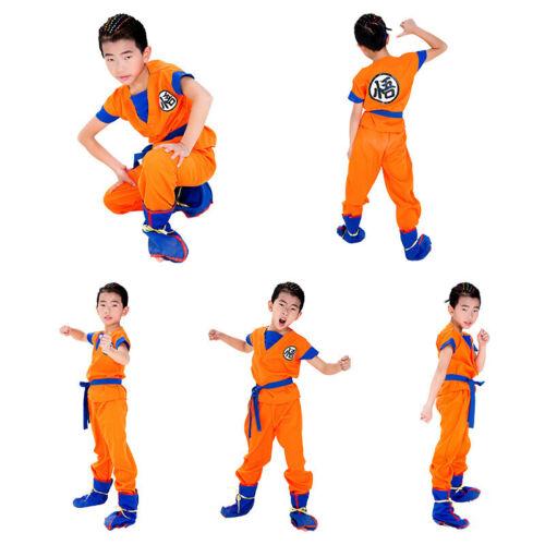 Kids Halloween Anime Dragon Ball Z Son GoKu Cosplay Costume Party Set Book Day