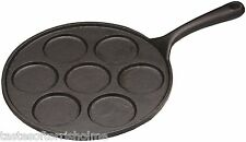 Kitchen Craft Cast Iron 7 Hole Blini Pancake Making Frying Pan