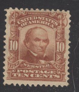 Details about U S  STAMP #307 --- 10c WEBSTER DEFINITIVE -- 1902 -- UNUSED