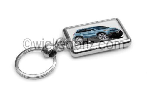 RetroArtz Cartoon Car Honda CR-V Crossover in Blue Premium Metal Key Ring