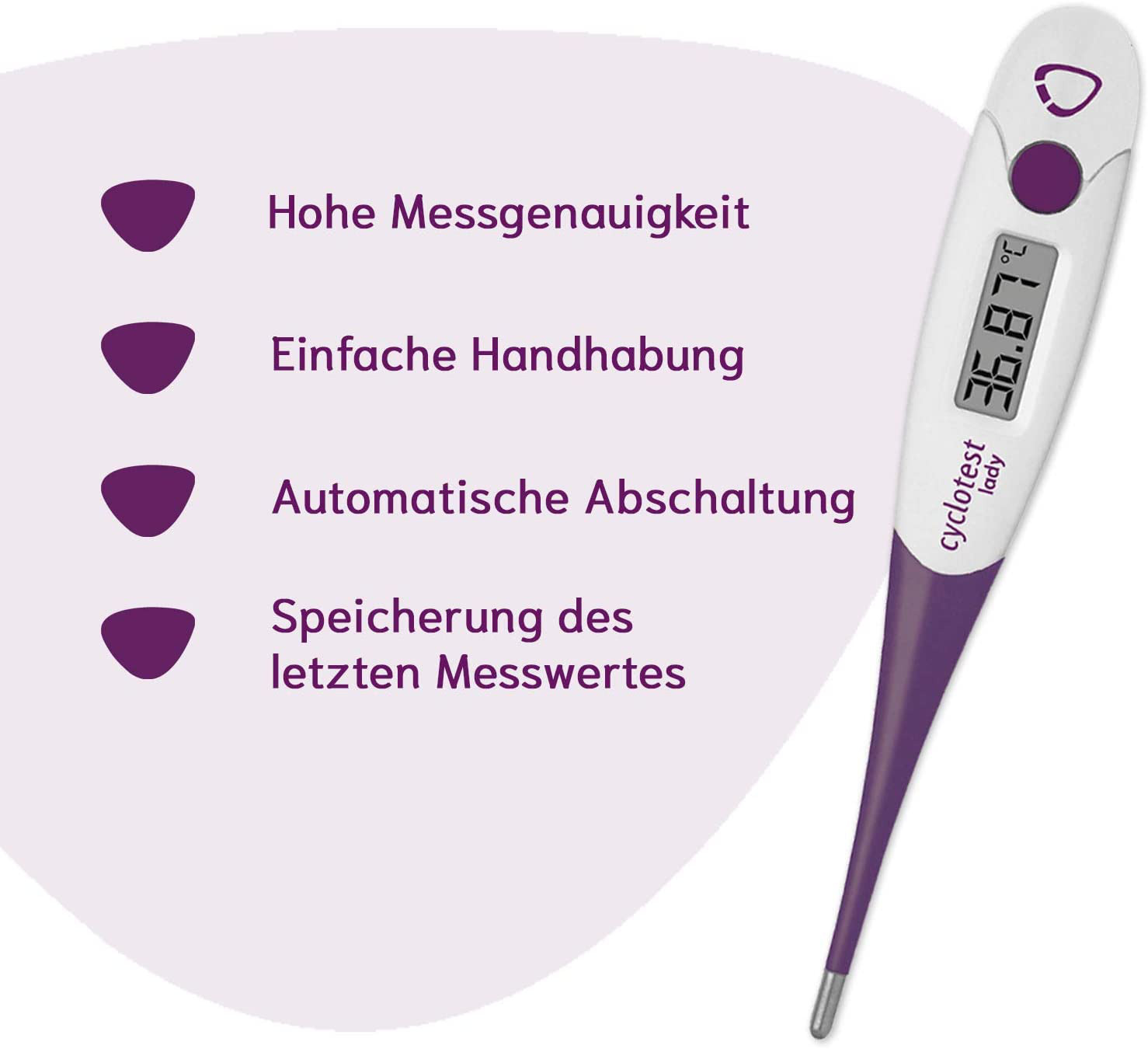 Cyclotest Lady Digitales Basalthermometer Zur Zykluskontrolle NFP Thermometer Di