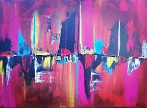 Tableau-abstrait-contemporain-30-x-40-cm-uvre-originale-de-Audrey-Granjeaud