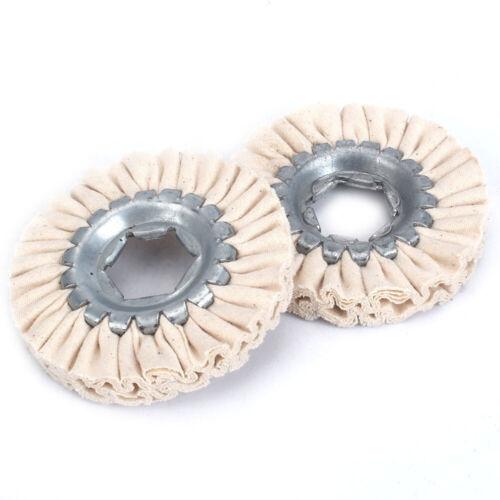 "4/"" 8Ply Cotton Airway Buffing Wheel Polishing Wheel For Metal Wood Polishing"