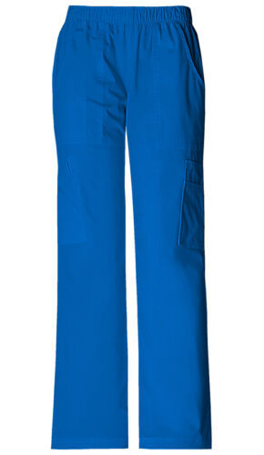 Scrubs Cherokee Workwear Petite Mid Rise Cargo Pant 4005P ROYW Royal