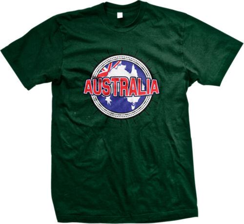 Commonwealth of Australia Flag Map Outline Aussie Pride Mens T-shirt
