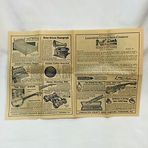 1930s-Lancaster-County-Seed-Company-Paper-Ad-Credit-Letter-Premium-Advertisement
