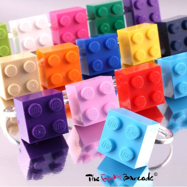 FUNKY LEGO BRICK RING 2X2 CUTE GIRLS QUIRKY NOVELTY ADJUSTABLE COOL RETRO KITSCH