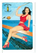 Single Playing Card, Cutty Sark Scots Whiskey Pin-Up on Keel