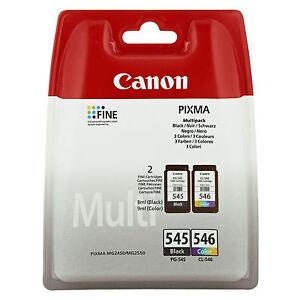 2-ORIGINALI-CANON-PG545-CL546-PER-Canon-Pixma-MG2450-MX495-MG2950-MX490-MG2900-S