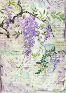 Furniture Slide Decal Vintage Image Transfer Wisteria Shabby Chic