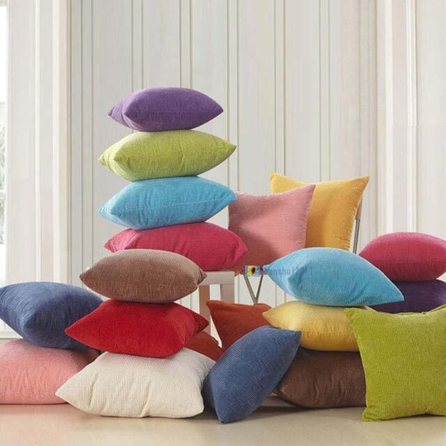 Color Corn kernels Corduroy Sofa Decor throw Pillow Case Cushion Cover Square