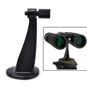 Universal Black Full Metal Adapter Mount Tripod Bracket For Binocular Telescope.