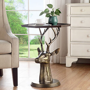 Image Is Loading Deer Bust End Table By SPI Home 34670