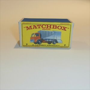 Matchbox-Lesney-7-c-Ford-Refuse-Truck-empty-Repro-E-style-Box