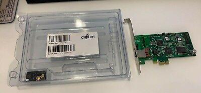 Digium TE121 TE121F One (1) Span Digital T1/E1/J1/PRI PCI-Express Card  797734602616 | eBay