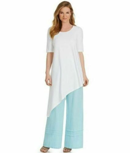 Bryn Walker S White Asymmetrical Top Tee T-Shirt T