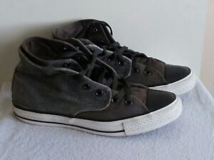 Converse All Grey Star Taylor Uk7 Unisexe Taille High Chuck Baskets 6A6wd