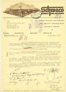 Herford Brief Deko 1937 Schwaco Möbel Werk Ebay