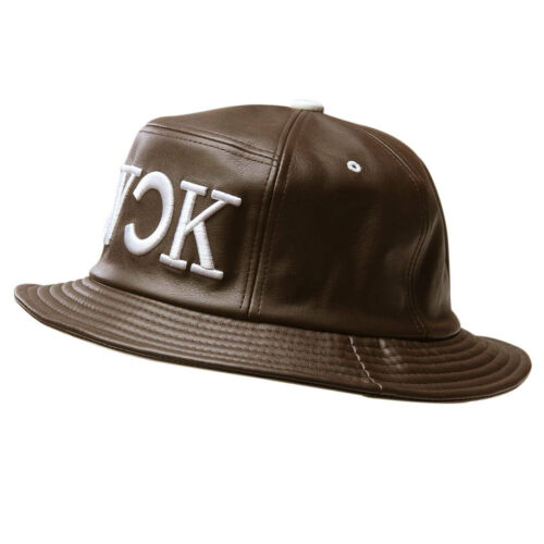 Faux Leather Hip-hop Sun Outdoor Fishing Beach Bucket Boonie Cap Hat Women Men