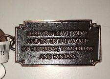Disney parks. Disneyland Walt Disney Entrance Plaque Keychain