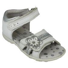 Startrite Bailey Childrens Girls Buckle Sandals White