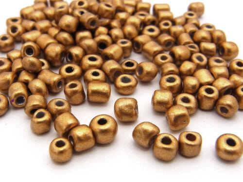 oro marrón metalizado 4 mm 20 G de Kaden Rocailles 220 unidades; * 3226 aprox 6//0
