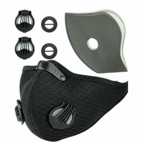Reusable Cycling Air Purifying Mouth-muffle With PM2.5 Activated Carbon Filter