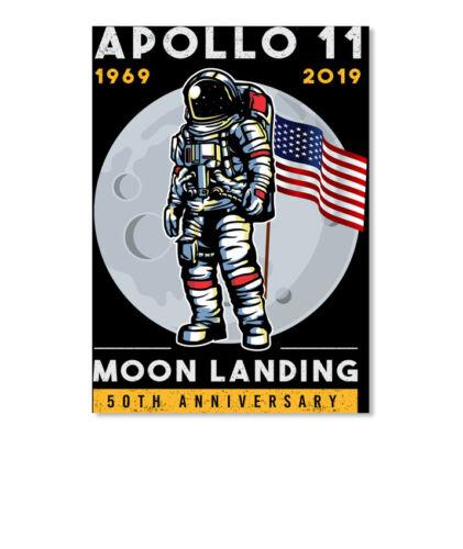 Premium Apollo11 Blastoff 50th Anniversary Moon Sticker Portrait Sticker