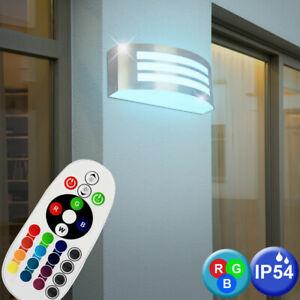 RGB LED Außen Wand Lampe Garten Balkon Strahler Fernbedienung Leuchte DIMMBAR