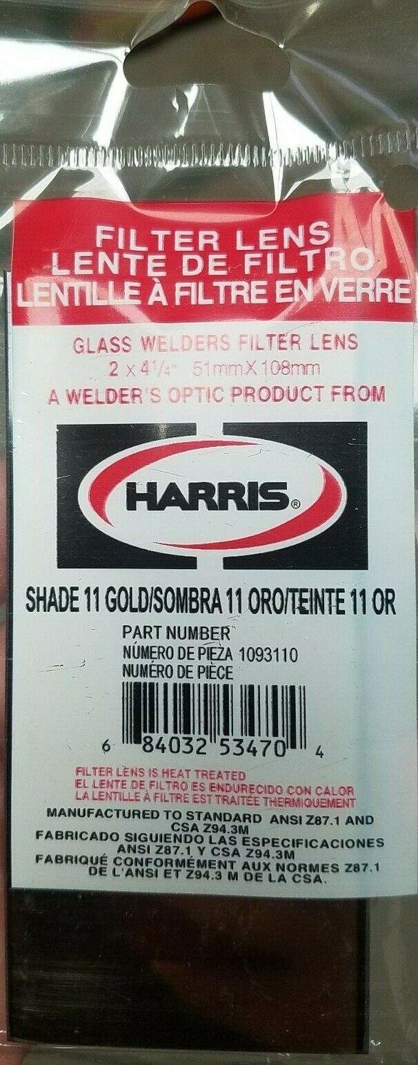 Shade 11 Welding Helmet Gold Filter Glass Lens 2x4.25  2x4 2 X 4