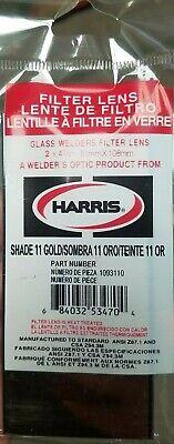 """Harris Glass Welders Filter Lens 1094100 4 1//2/""""x5 1//4/"""" Shade 10 Gold Qty.1"""