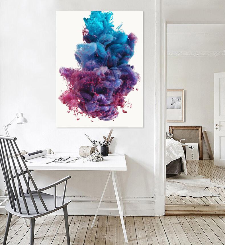 3D Lila Nebel 345 Fototapeten Wandbild Bild Tapete Familie AJSTORE DE