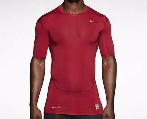Nike Pro Combat Compression Short Sleeve Shirt Red Men/'s Extra Large XL 449792