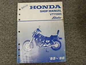 Honda VT1100C 1985 1986 Shadow 1100 Parts List Motorcycle Manual ...