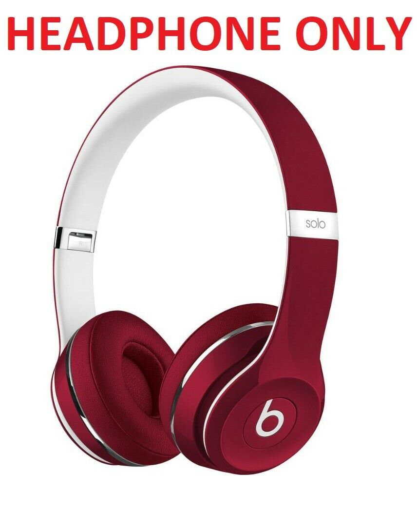 Beats Solo2 Wired On Ear Headphones Red Luxe Ml9g2am A Headphone Only For Sale Online