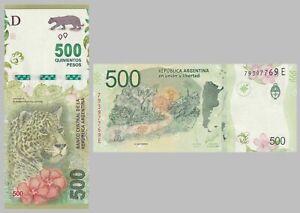Argentinien / Argentina 500 Pesos 2016 p365 sign1 unz.