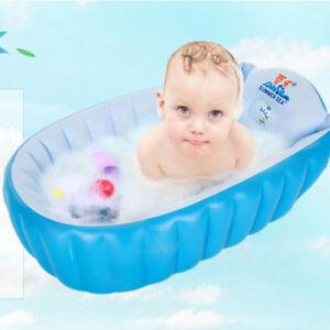 Baby Tub Inflatable Baby Bath Tub Heat Sensor Travel Infant ...
