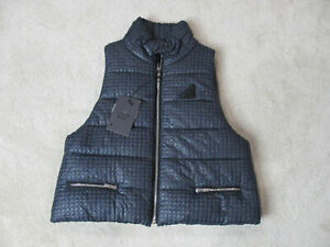 NEW-Hogan-Karl-Lagerfeld-Vest-Womens-Medium-Size-7-EUR-42-Puffer-Bubble-335