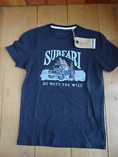 FAT FACE SURFARI TEE T SHIRT COTTON XS MEN TEEN LANDROVER SURF NO WAVE TOO WILD